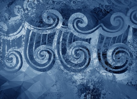 ragged: art grunge blue ragged abstract pattern illustration background Stock Photo