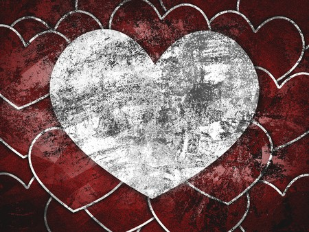 grunge heart: art grunge heart pattern illustration background