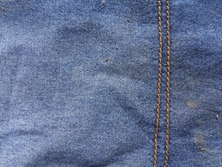 bluejeans: seam jeans texture Stock Photo