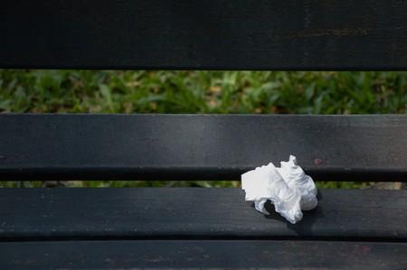 tissue: Tissue on wood chair