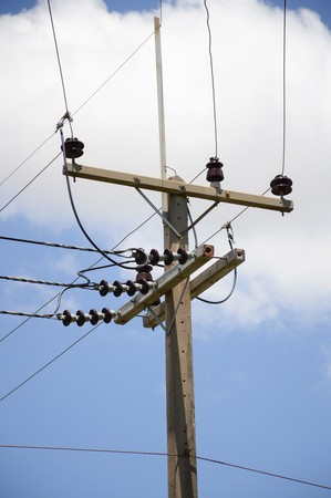 electricity post in country thailand