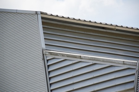 metal: metal roofing Stock Photo
