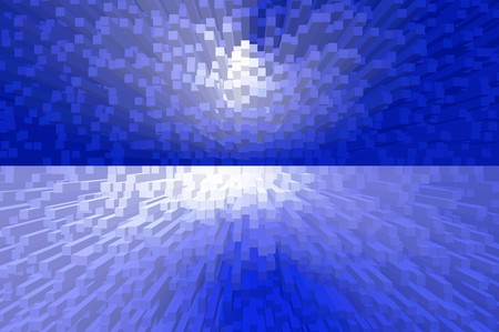 blue blocks abstract pattern illustration background