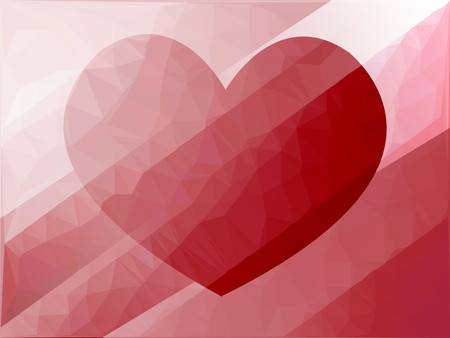 streaked: art red heart polygon pattern illustration background Stock Photo