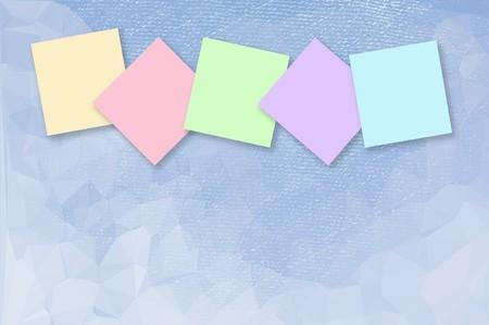 note paper: note paper on grunge blue color illustration background