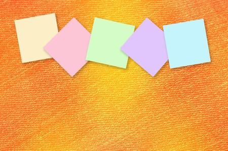 note paper: note paper on grunge orange color illustration background
