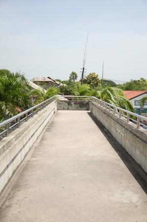 overpass: street overpass for pedestrians in thailand
