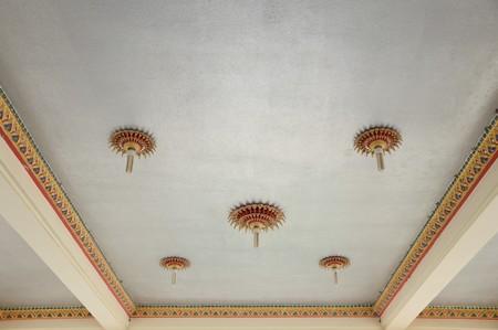 ceiling: thai lamp on ceiling Stock Photo