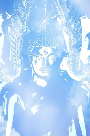 blue background: art blue buddha background
