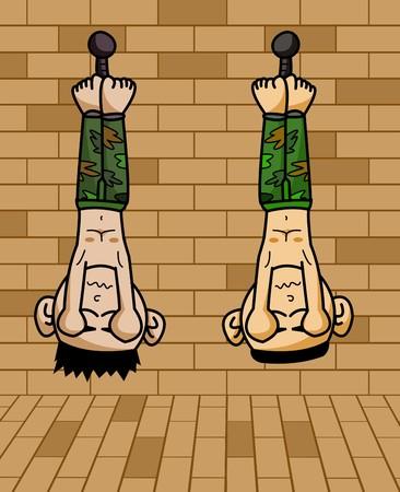 prisoner: prisoner army cartoon illustration
