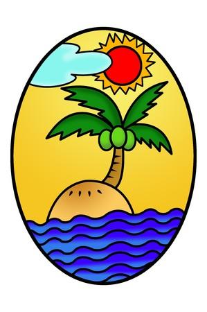 elipse: de dibujos animados arte en la isla elipse ilustración de fondo