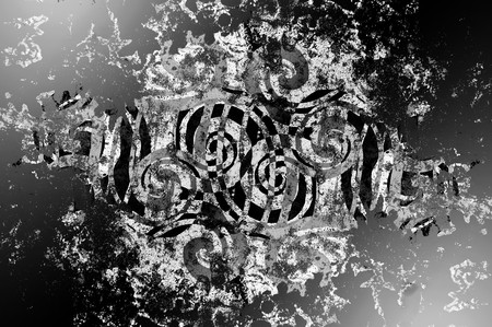 art grunge black ragged abstract pattern illustration background