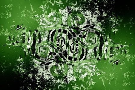 Art grunge groen haveloos abstracte patroon illustratie achtergrond Stockfoto - 64264244