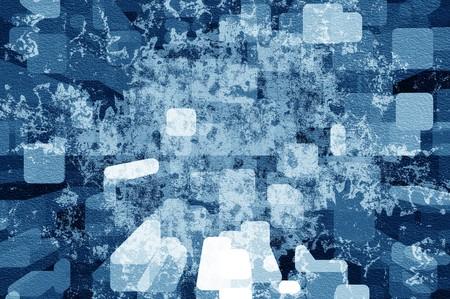 Art grunge blauwe noise abstracte patroon illustratie achtergrond Stockfoto - 63804407