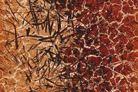 Kunst grunge bruin abstracte patroon illustratie achtergrond Stockfoto - 69126932