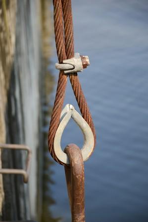 rusty: rusty sling Stock Photo