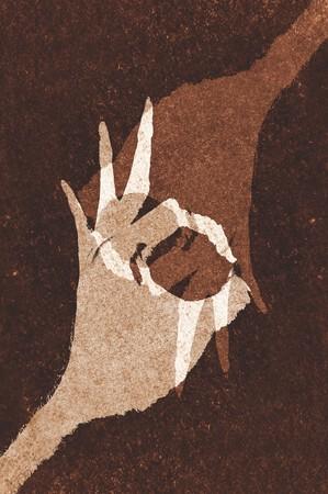 Kunst grunge bruin abstracte patroon illustratie achtergrond Stockfoto - 76407233