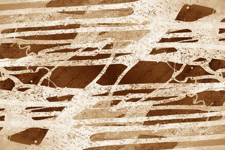 streaked: art grunge brown abstract pattern illustration background