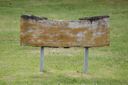 wood board in nature garden