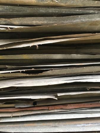 古いさびた亜鉛 plat テクスチャ 写真素材
