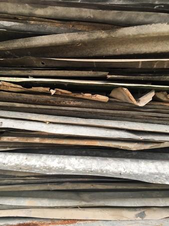 さびで覆われた亜鉛テクスチャ 写真素材