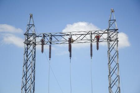 electric pylon in country Thailand Фото со стока