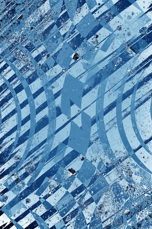 art grunge blue abstract pattern illustration background Stock fotó - 70605644