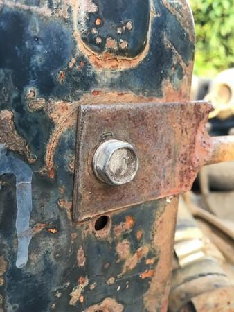 rusty: rusty nut Stock Photo