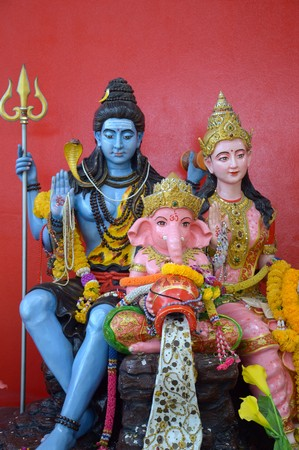 family Ganesha status in Thailand temple