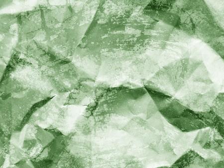古い緑のしわくちゃの紙テクスチャ