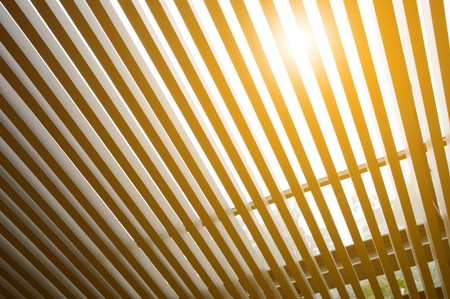lath: lath roof and sunlight