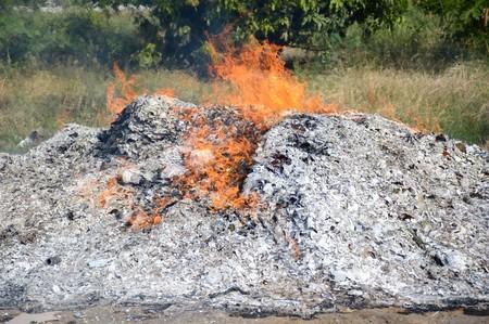 la quemada: ceniza quemada por el fuego Foto de archivo