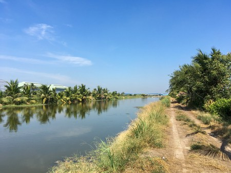country landscape in Chachoengsao Thailand