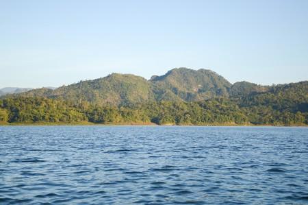 깐짜나부리 태국의 산과 강 스톡 콘텐츠