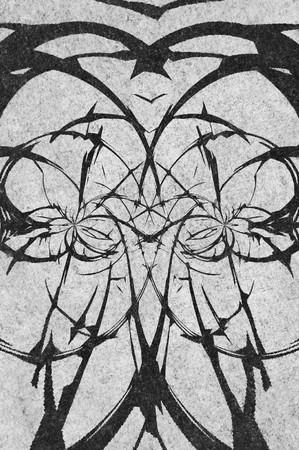 art grunge zwart abstract patroon illustratie achtergrond Stockfoto