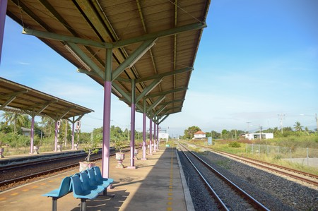 Preng train station in Chachoengsao Thailand Editorial