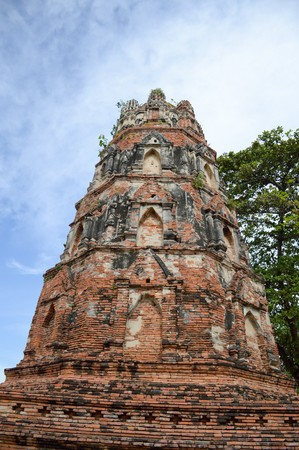 old stupa in country Thailand