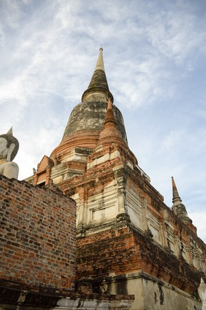 Public Attraction Wat Yai Chai Mongkol Buddhist temple in Ayutthaya, Thailand
