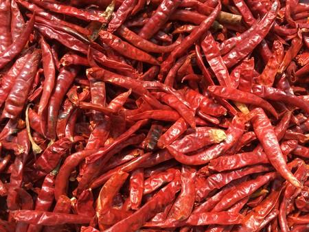 dry red chili texture