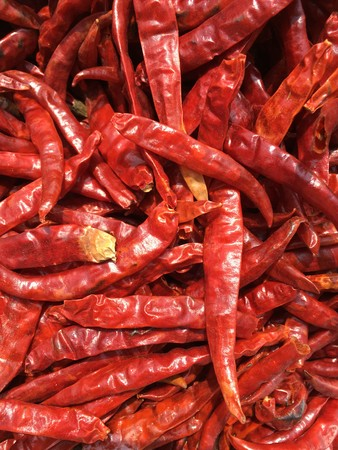 dry red chili texture