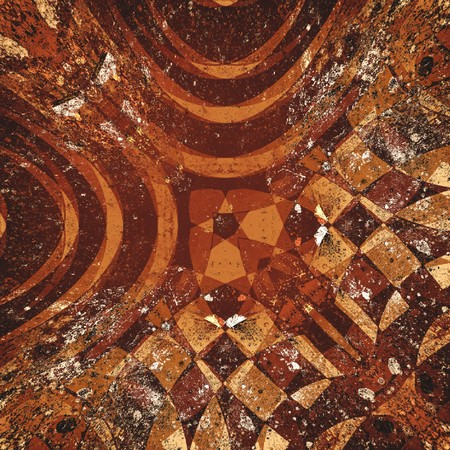 Kunst grunge bruin abstracte patroon illustratie achtergrond Stockfoto - 77679541