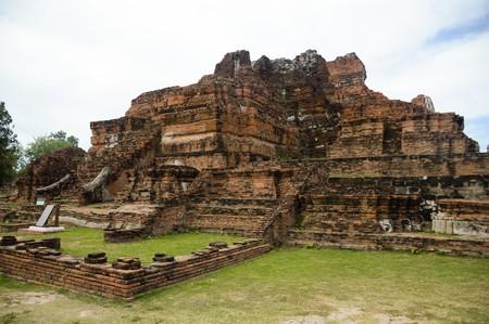 Wat Mahathat Temple , Ayutthaya, Thailand Editorial