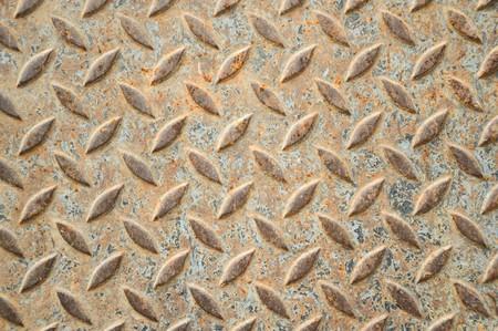 さびた鉄の床のテクスチャ 写真素材