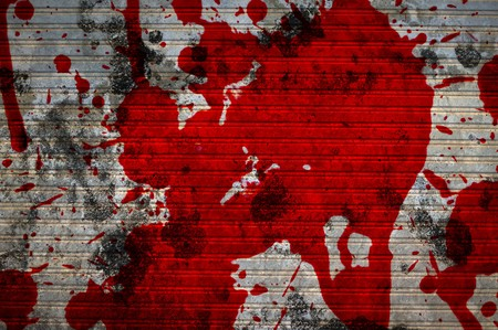 red blood on cement wall texture