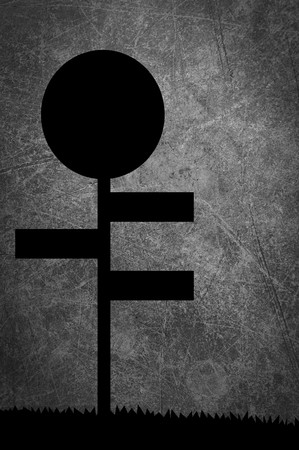 art silhouette sign on grunge background