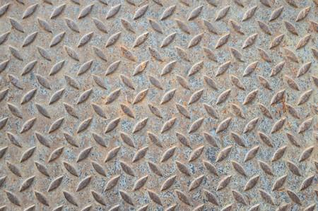 古いさびた鉄の床のテクスチャ