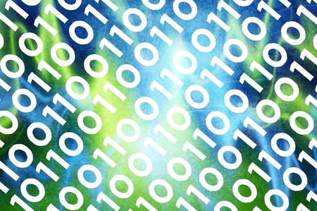 abstract binary code digital screen abstract background