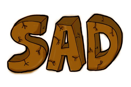 Sad text - illustration ans painting Stock fotó