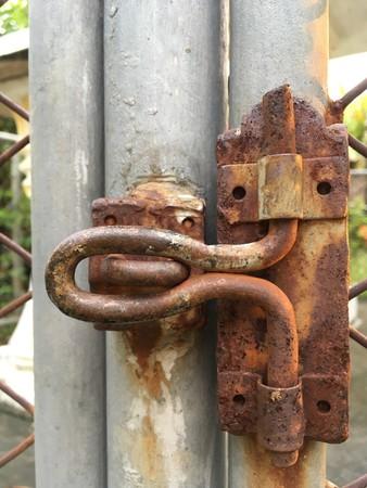 Old rusty latch