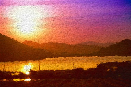 art color view sunset abstract pattern illustration background
